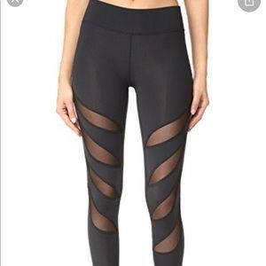 Terez black mesh leggings